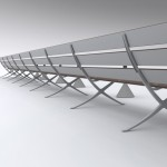 B Bench by Konstantin Grcic for BD Barcelona Design