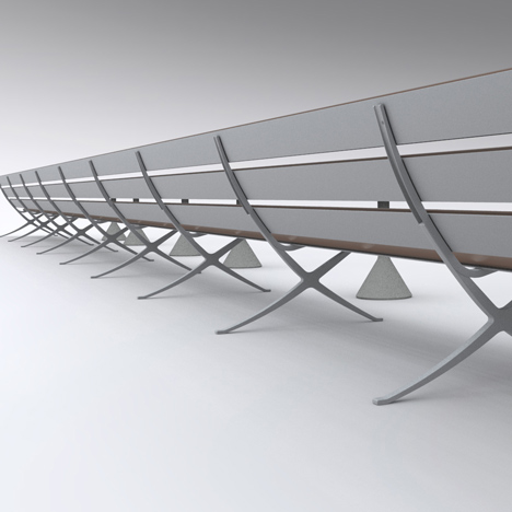 B Bench by Konstantin Grcic<br /> for BD Barcelona Design