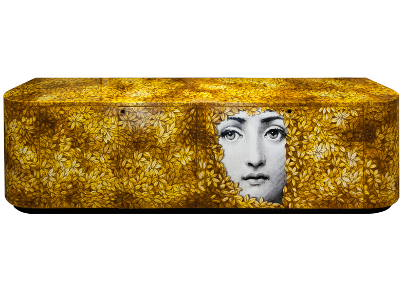 """Buffet FoglioLina"" by Barnaba Fornasetti. Wood. Printed, lacquered and painted by hand"