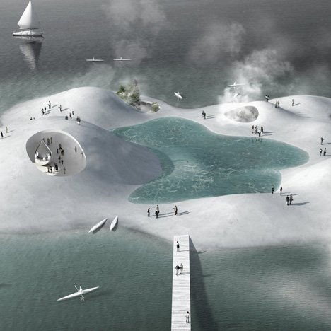 Blue Plan for Copenhagen Harbour by Tredje Natur and PK3