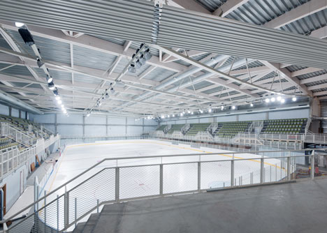 Ice rink of Liège by L''Escaut