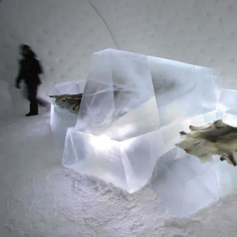 Iceberg by Wouter Biegelaar at Icehotel