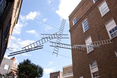 """My ladders provide an imaginative route across the road"" - Gitta Gschwentdner"