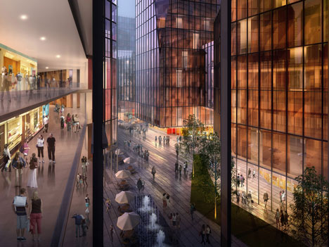 Nanjing Road mixed use area by RTA-Office