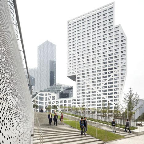 Sliced Porosity Block by Steven Holl Architects