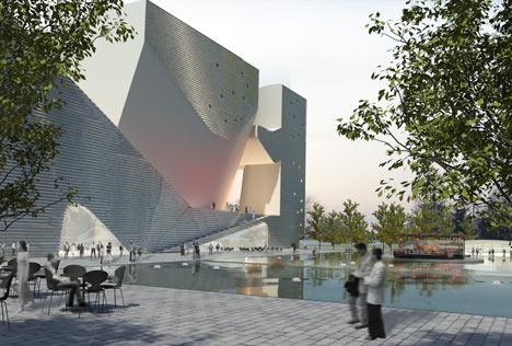 Tianjin Ecocity Ecology and Planning Museums by Steven Holl Architects