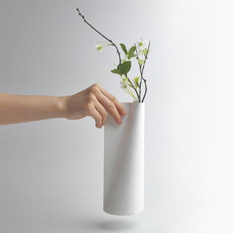 Tyvek Vases by Jiwon Choi