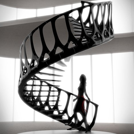 Vertebrae Staircase by Andrew McConnell
