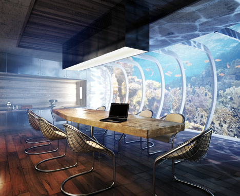 Water discus underwater hotel by deep ocean technology for Biggest hotel in dubai