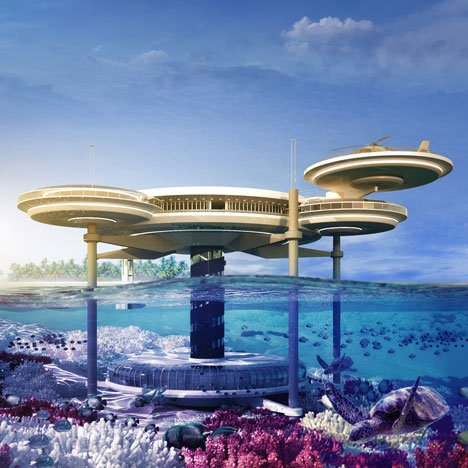Water Discus underwater hotel by Deep Ocean Technology