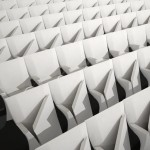 Array auditorium seats by Zaha Hadid for Poltrona Frau Contract