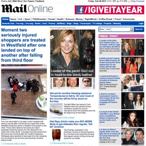 Daily Mail website wins design award