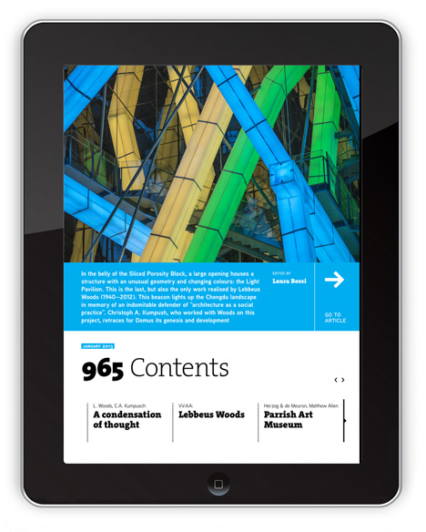 Domus iPad app available to download