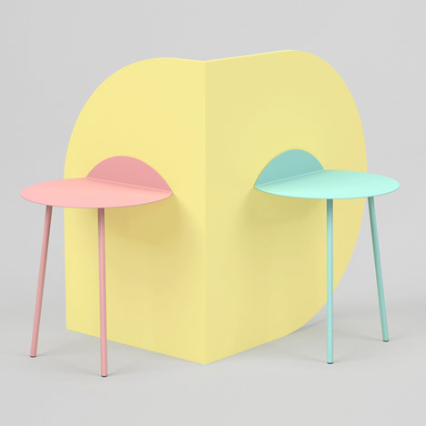 Kaki side tables by Kenyon Yeh