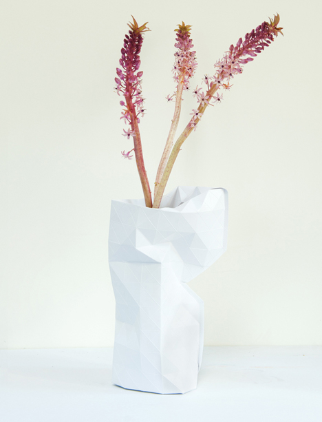 Paper Vase By Pepe Heykoop For Tiny Miracles Foundation