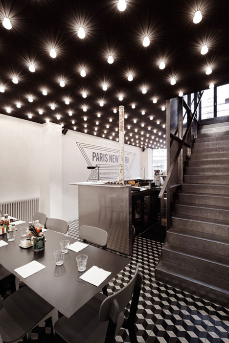 Paris New-York restaurant by CUT Architectures