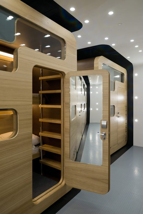 Hotel Room Designs: Hotel Design Sleeping Boxes