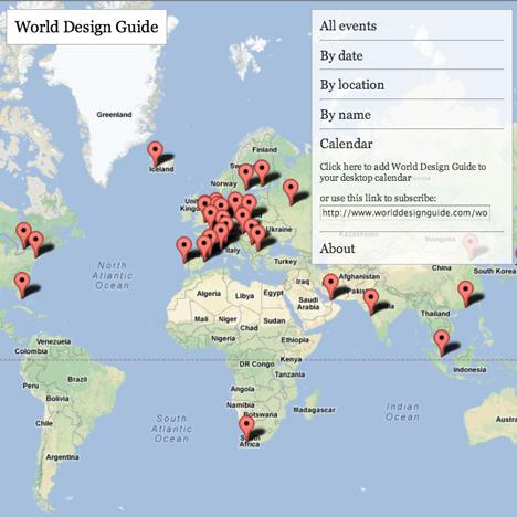 Subscribe to the World Design Guide calendar
