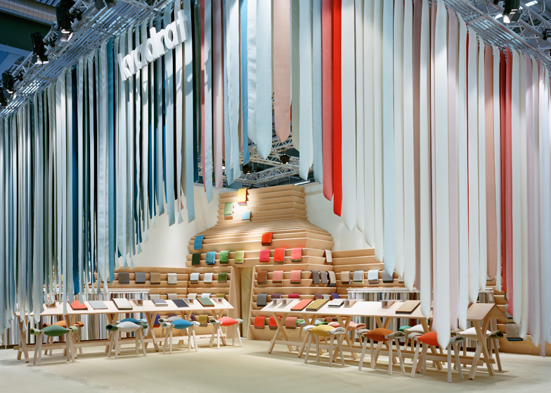 Exhibition Stand Textile : The picnic display stand by raw edges for kvadrat