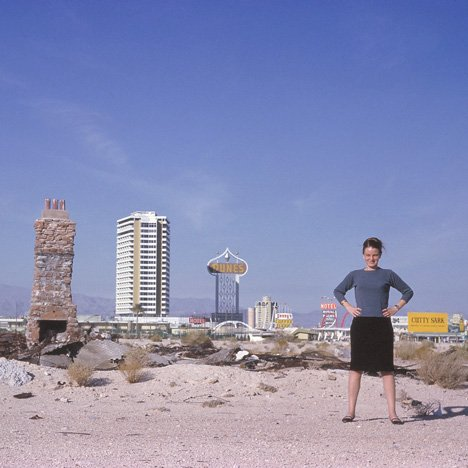 Denise Scott Brown outside Las Vegas in 1966