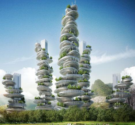 Asian Cairns by Vincent Callebaut