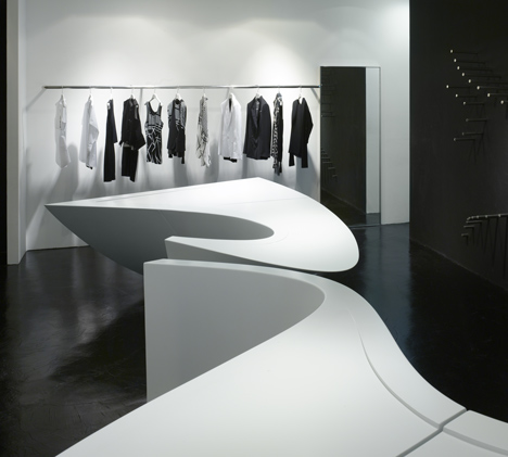 Neil Barrett Shop In Shop By Zaha Hadid