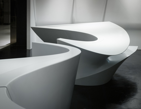 Neil Barrett Shop in Shop by Zaha Hadid Architects