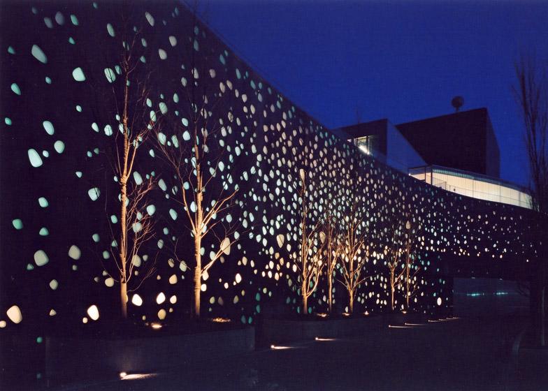 Matsumoto Performing Arts Centre, 2000 - 2004, Nagano, Japan. Photo by Hiroshi Ueda