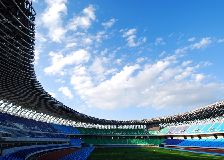 Main Stadium for The World Games 2009, 2006 - 2009, Kaohsiung, Taiwan. Photo by Fu Tsu Construction Co., Ltd.