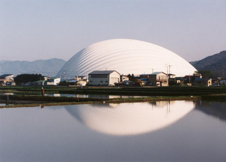 Dome in Odate, 1993 - 1997, Akita, Japan. Photo by Mikio Kamaya