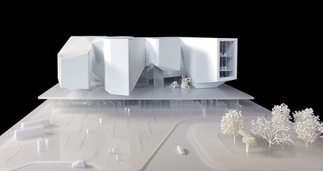 Moscow Polytechnic Museum and Educational Centre model by Massimiliano and Doriana Fuksas Architects