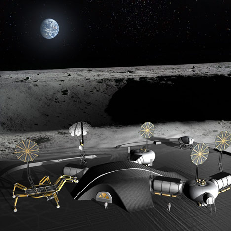 Space architects plan 3D-printed lunar base