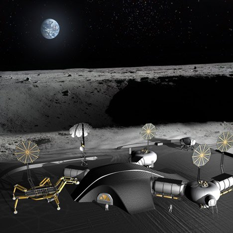 3D-printed moon base