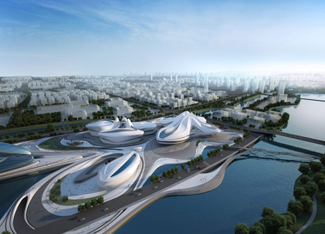 Changsha Meixihu International Culture and Art Centre by Zaha Hadid Architects