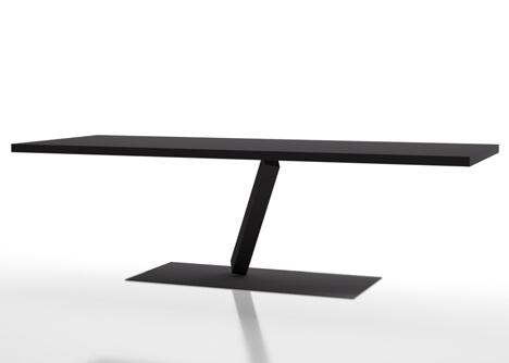Element tables by Tokujin Yoshioka for Desalto