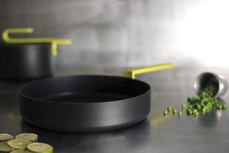Hook pans by Karim Rashid for TVS