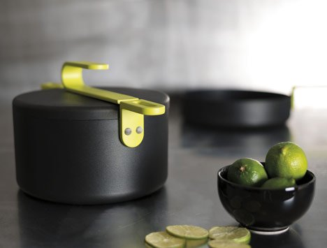 Hook pans by Karim Rashid for TVS