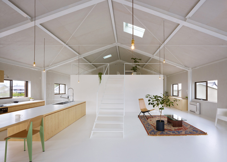 House in Yoro interior by Airhouse Design Office on warehouse residential design, warehouse interior design, warehouse living design,