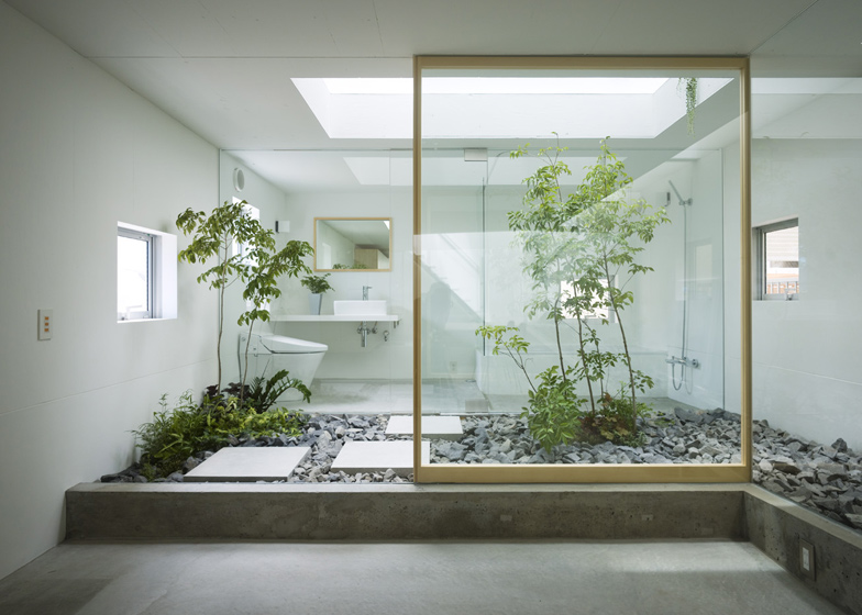 Plants and humans share the same space in this Nagoya house by Suppose Design Office.