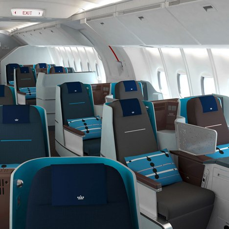 World Business Class cabin&ltbr /&gt by Hella Jongerius for KLM