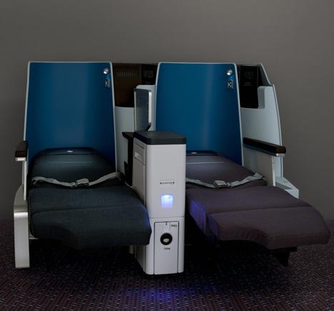 KLM World Business Class cabin by Hella Jongerius