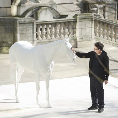 Mark Wallinger unveils The White Horse