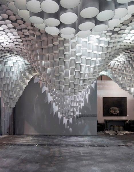 Paper Chandeliers by Cristina Parreño Architecture