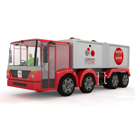 lorry redesigned to prevent cycling accidents
