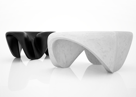 Tables by Zaha Hadid for Citco