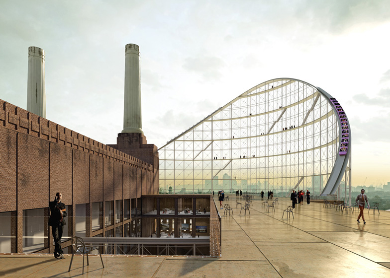 the architectural ride at battersea power station by azc. Black Bedroom Furniture Sets. Home Design Ideas