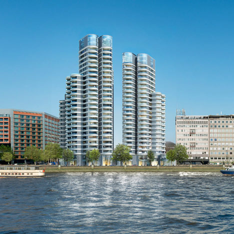 Three Foster + Partners towers approved for London's Albert Embankment
