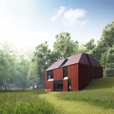 Tind prefabricated house concept by claesson koivisto rune for Swedish prefab homes