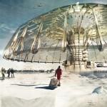 Polar ice cap-building umbrella wins eVolo Skyscraper Competition 2013