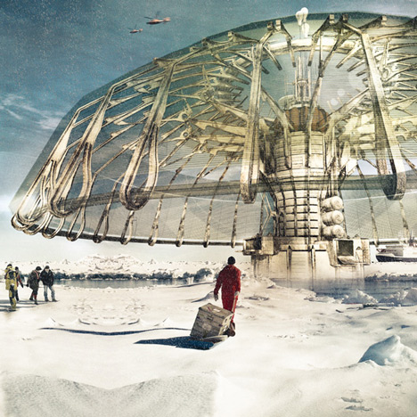 Polar ice cap-building umbrella wins eVolo Skyscraper Competition 2013